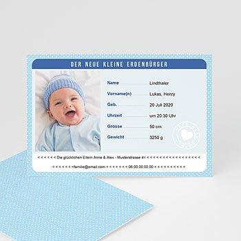 Geburtskarten für Jungen - Personalausweis Junge - 0