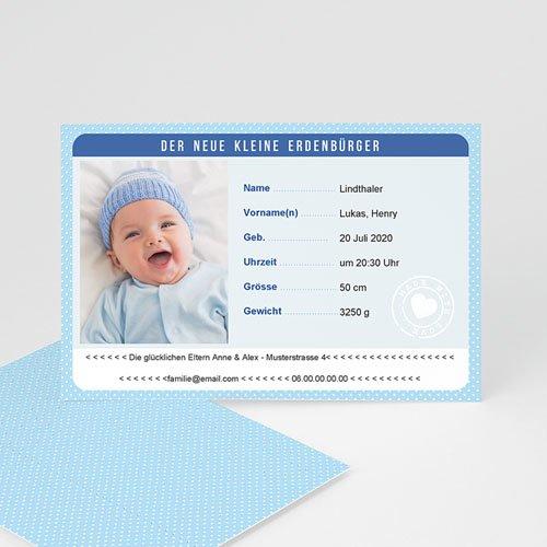 Geburtskarten für Jungen Personalausweis Junge