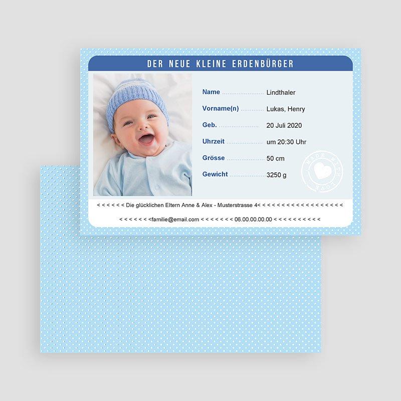 Geburtskarten für Jungen Personalausweis Junge gratuit