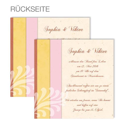 Einlegekarten Hochzeit - Modernes Design 48617