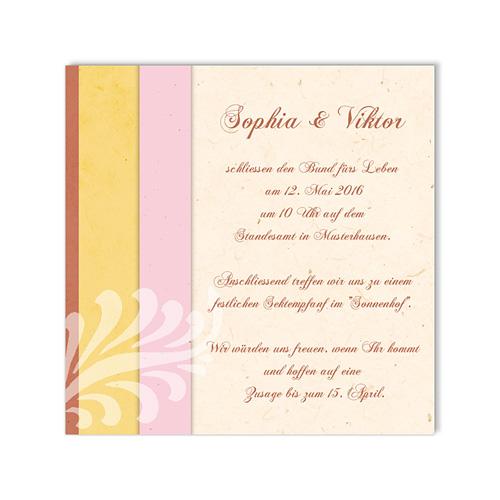 Einlegekarten Hochzeit - Modernes Design 48618 preview