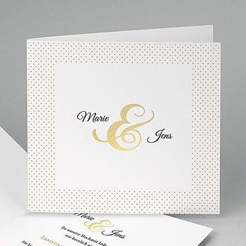 Elegante Hochzeitskarten  - Edel und dezent - 0