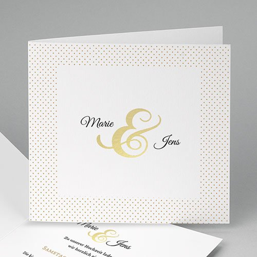 Elegante Hochzeitskarten  - Eleganz pur 49019 test