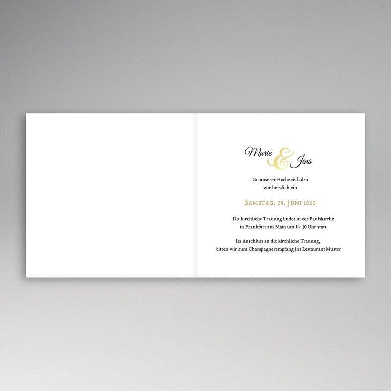 Hochzeitseinladungen ohne Foto Eleganz pur pas cher