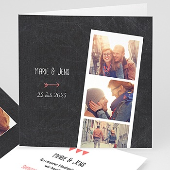 Einladungskarten Hochzeit  - Pfeil und Schiefer - 0