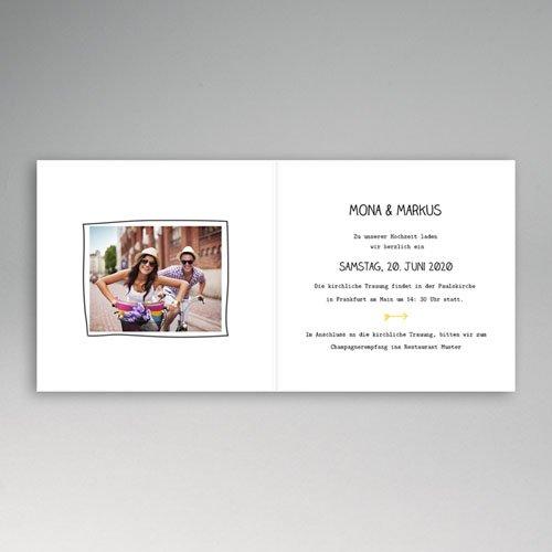 Hochzeitseinladungen modern - Zeichnung 49038 preview