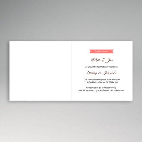Hochzeitseinladungen modern - Zuckersüss 49050 test