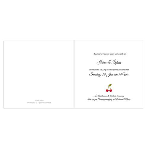 Hochzeitseinladungen modern - Kirschen 49056 preview