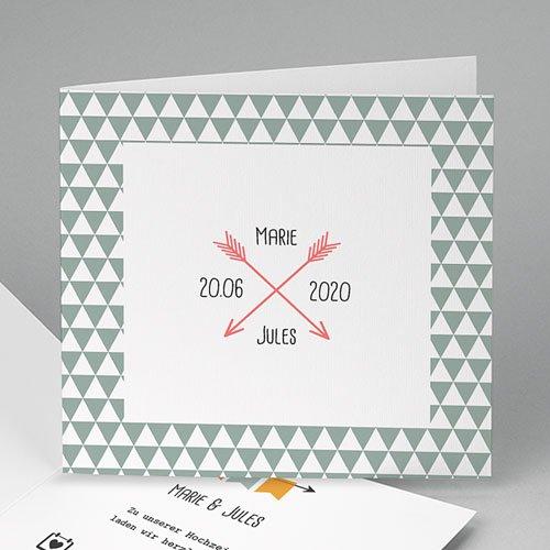 Einladungskarten Hochzeit  - Pfeile 49061 test