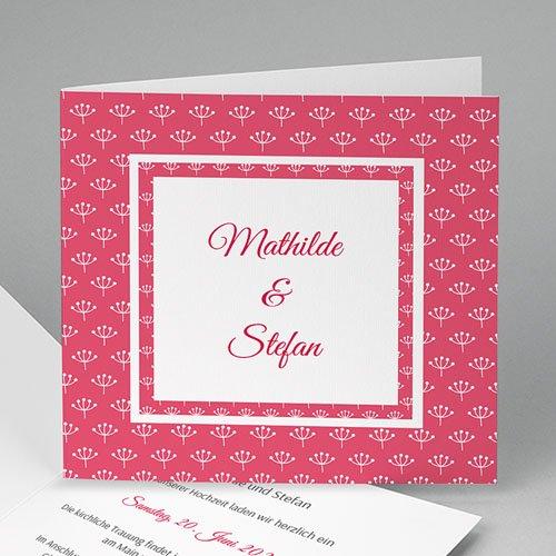 Hochzeitseinladungen modern - Flowers 49067