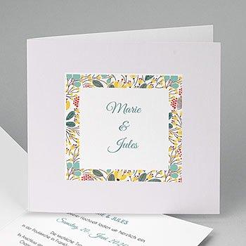 Hochzeitseinladungen modern - Blumen und Blüten - 0