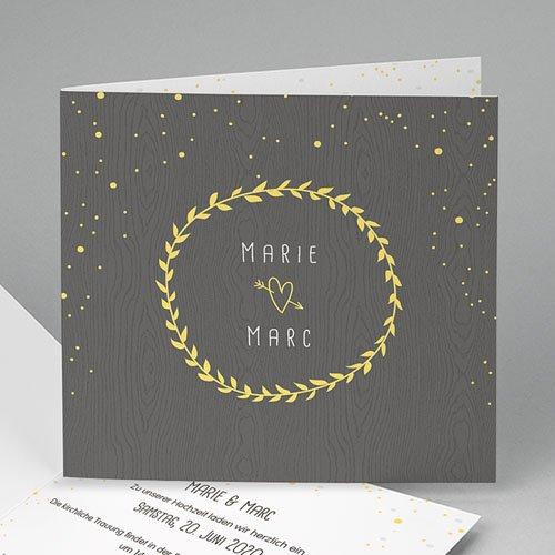 Hochzeitseinladungen modern - Festlich 49079