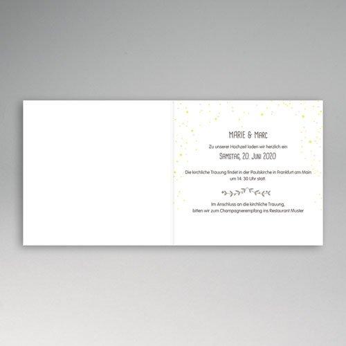 Hochzeitseinladungen modern - Festlich 49080 preview