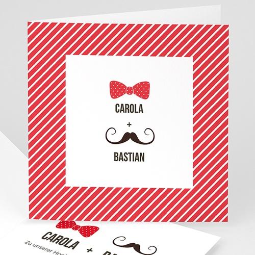 Hochzeitseinladungen modern - Charmant 49091