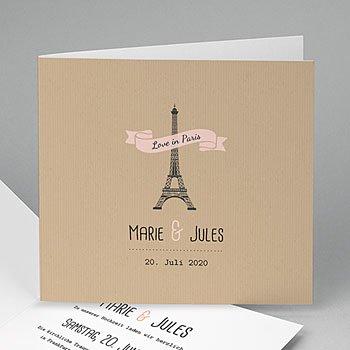 Hochzeitskarten Reisen - Paris Paris - 0