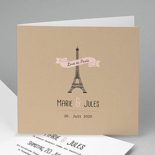 Hochzeitseinladungen modern - Paris Paris 49121