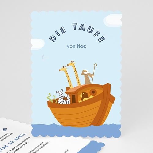 Einladungskarten Taufe Jungen  - Noe 49167