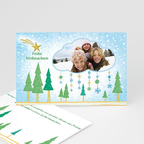Weihnachtskarten - Stimmungsvolle Schneelandschaft 4924