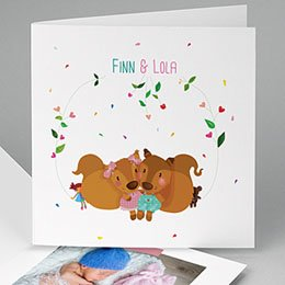 Babykarten für Zwillinge gestalten Cora