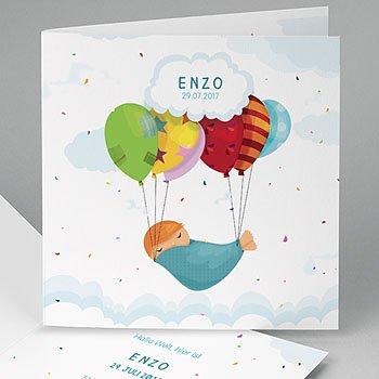 Geburtskarten für Jungen Luftballon