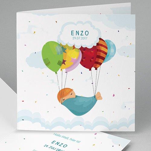 Babykarten für Jungen - Luftballon 49346