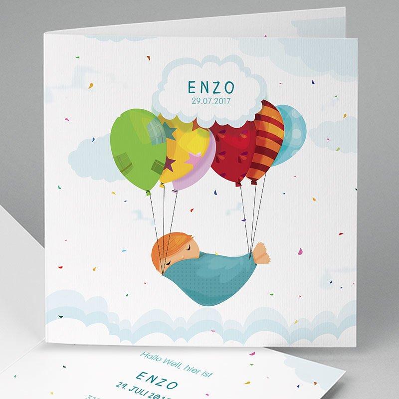 Geburtskarten Luftballon