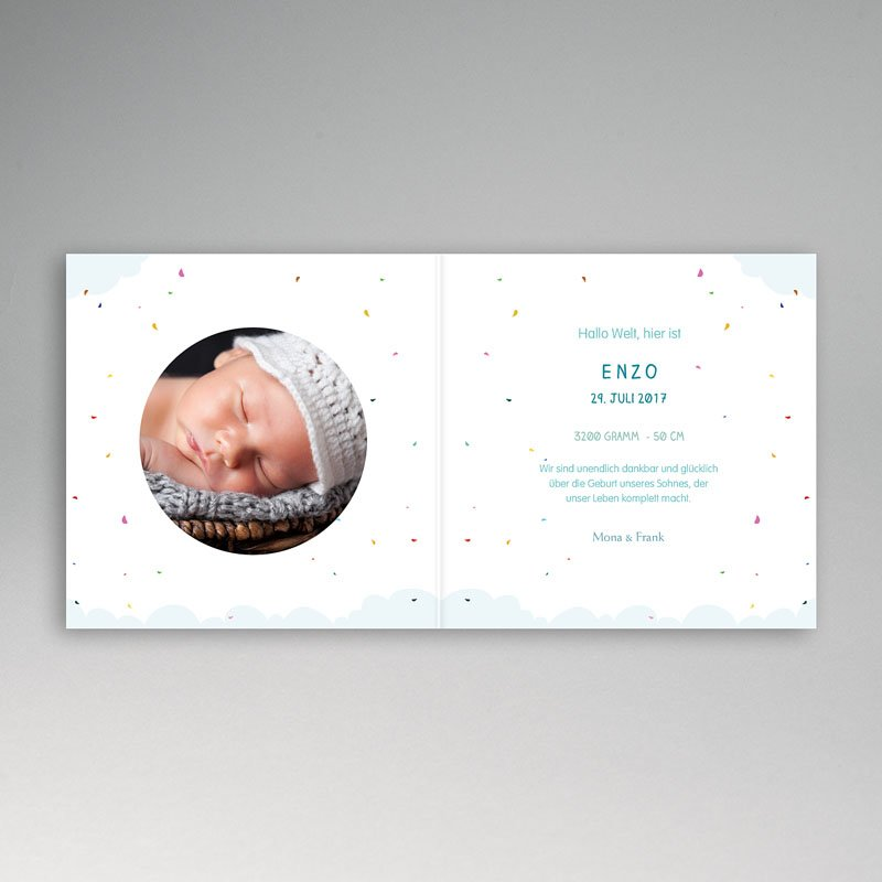 Geburtskarten Luftballon pas cher