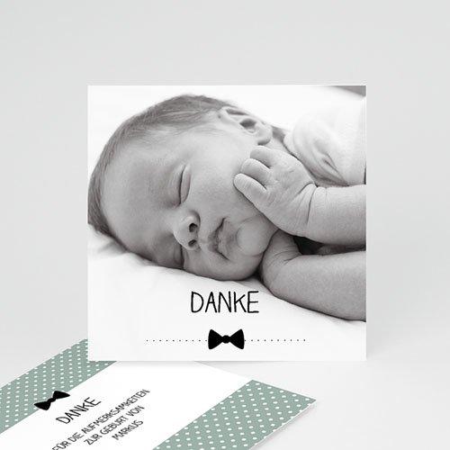 Dankeskarten Geburt Jungen - Fliege im Trend 49385