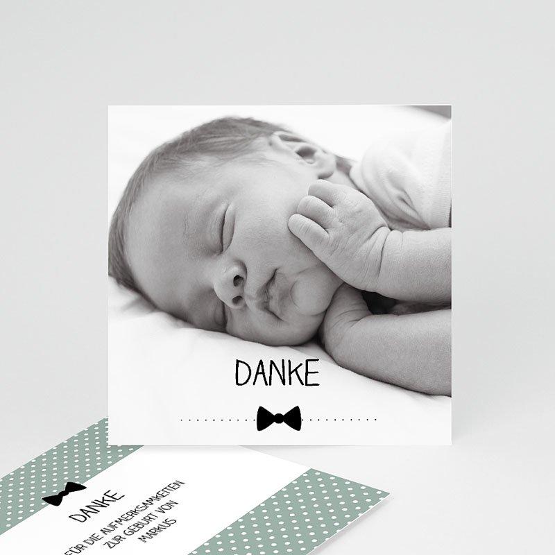 Dankeskarten Geburt Jungen - Fliege im Trend 49385 thumb