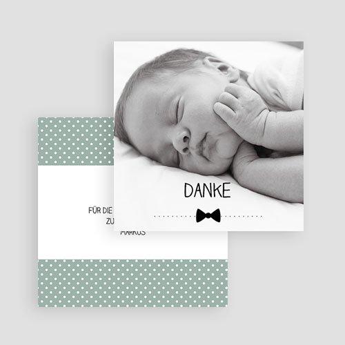 Dankeskarten Geburt Jungen - Fliege im Trend 49387 preview