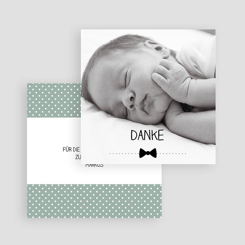Dankeskarten Geburt Jungen - Fliege im Trend 49387 thumb