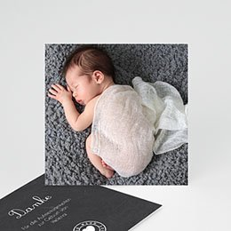 Dankeskarten Geburt Mädchen Tafel mit Details