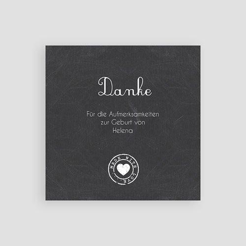 Dankeskarten Geburt Mädchen - Tafel mit Details 49392 test