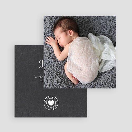 Dankeskarten Geburt Mädchen - Tafel mit Details 49393 test