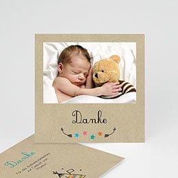 Dankeskarten Geburt Jungen - Indianerzelt - 0