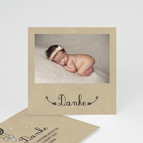 Dankeskarten Geburt Mädchen - Geborgenheit 49403