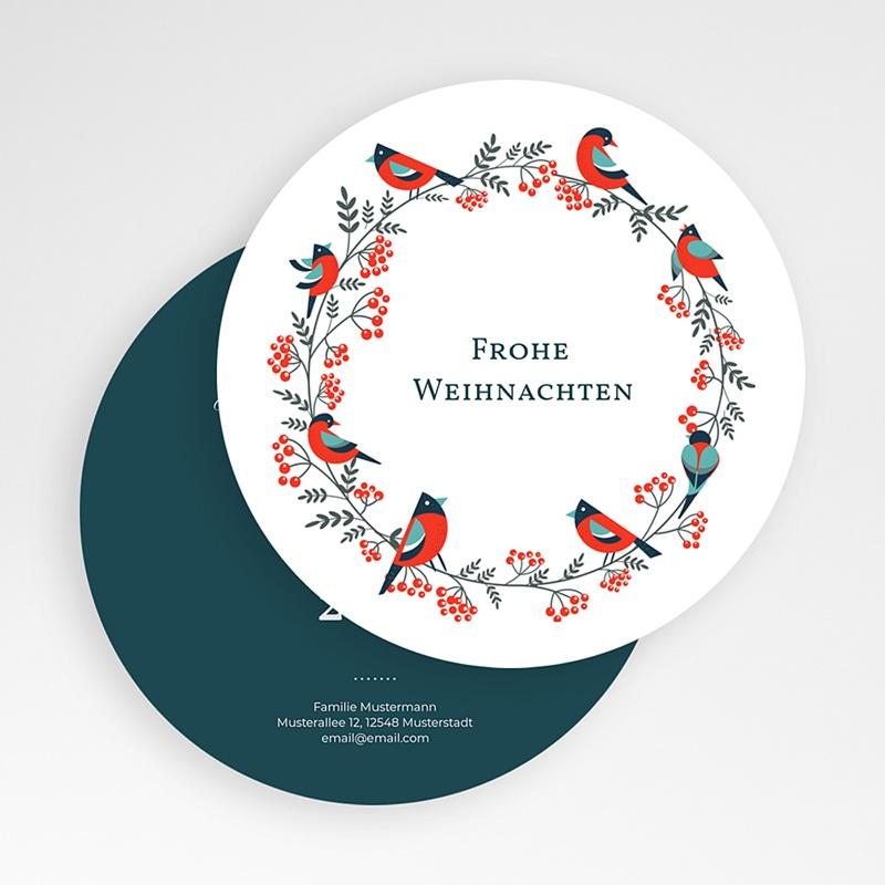 Weihnachtskarten - Beerenkranz 49557 thumb