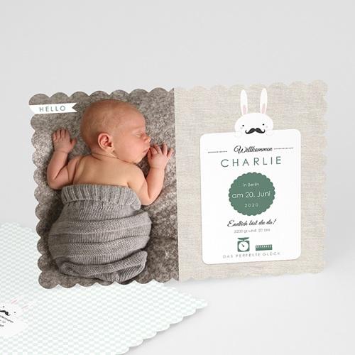 Babykarten für Jungen - Schnurrbart 49558