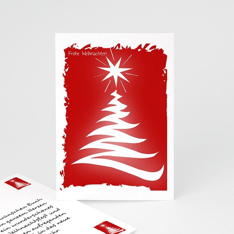 Geschäftliche Weihnachtskarten Tannenbaum