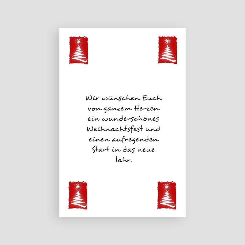 Geschäftliche Weihnachtskarten Tannenbaum pas cher