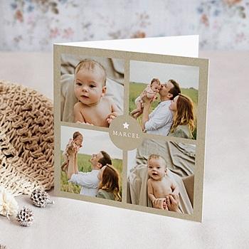 Geburtskarten für Jungen - Kraft Vintage - 0