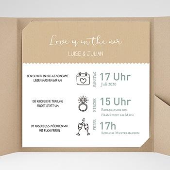 Hochzeitskarten Quadratisch - Natur