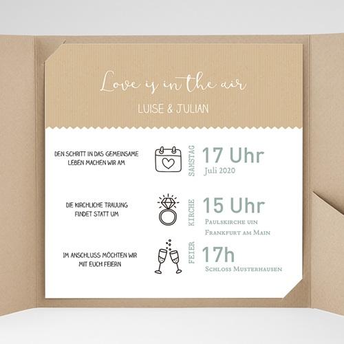 Hochzeitskarten Quadratisch - Natur 49588 test