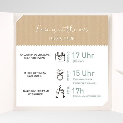 Hochzeitskarten Quadratisch Natur pas cher