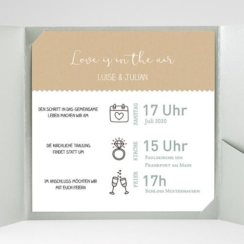 Hochzeitskarten Quadratisch - Natur 49590 test