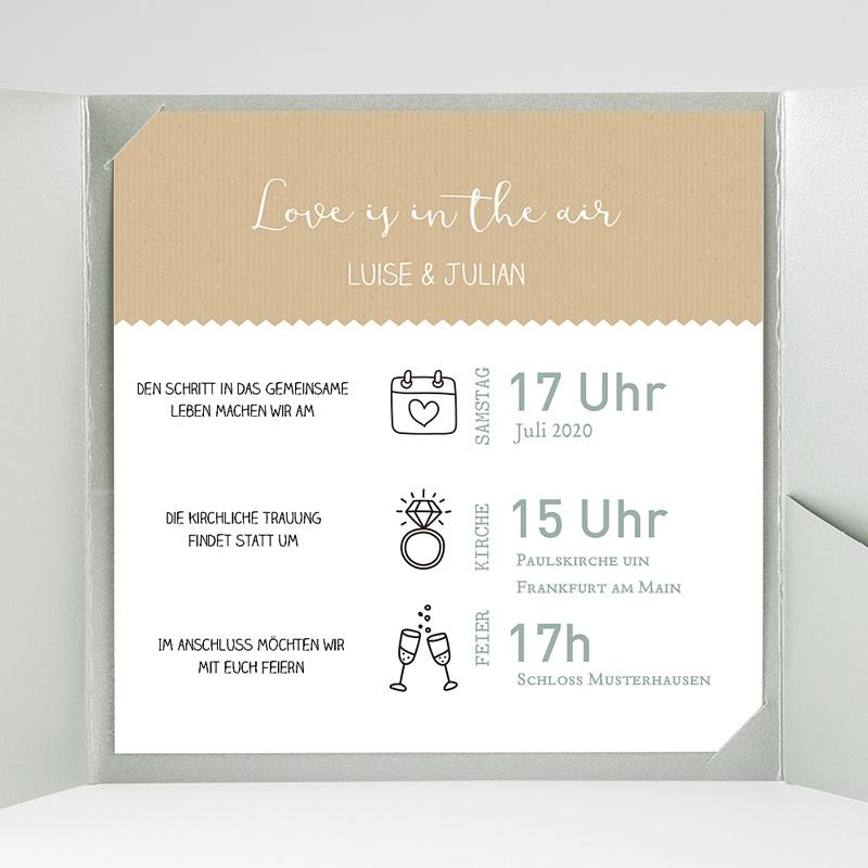 Hochzeitskarten Quadratisch Natur gratuit