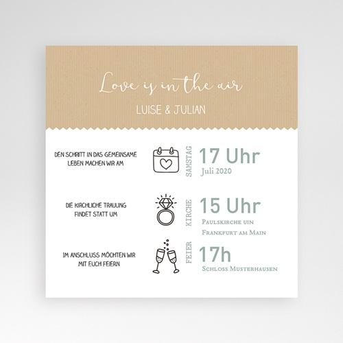 Hochzeitskarten Quadratisch - Natur 49591 test