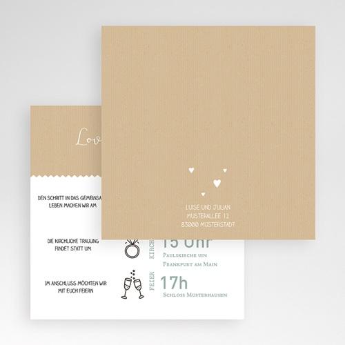 Hochzeitskarten Quadratisch - Natur 49592 test