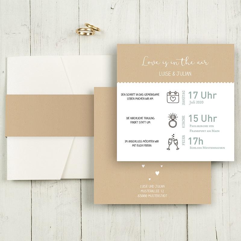 Hochzeitskarten Quadratisch Natur
