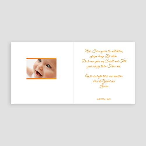 Geburtskarten für Mädchen - Fotorahmen Orange 4961 thumb